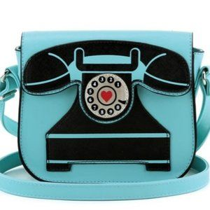 Turn Vintage Telephone Shoulder Bag
